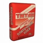 Клей плиточный для строителей Титан 25кг